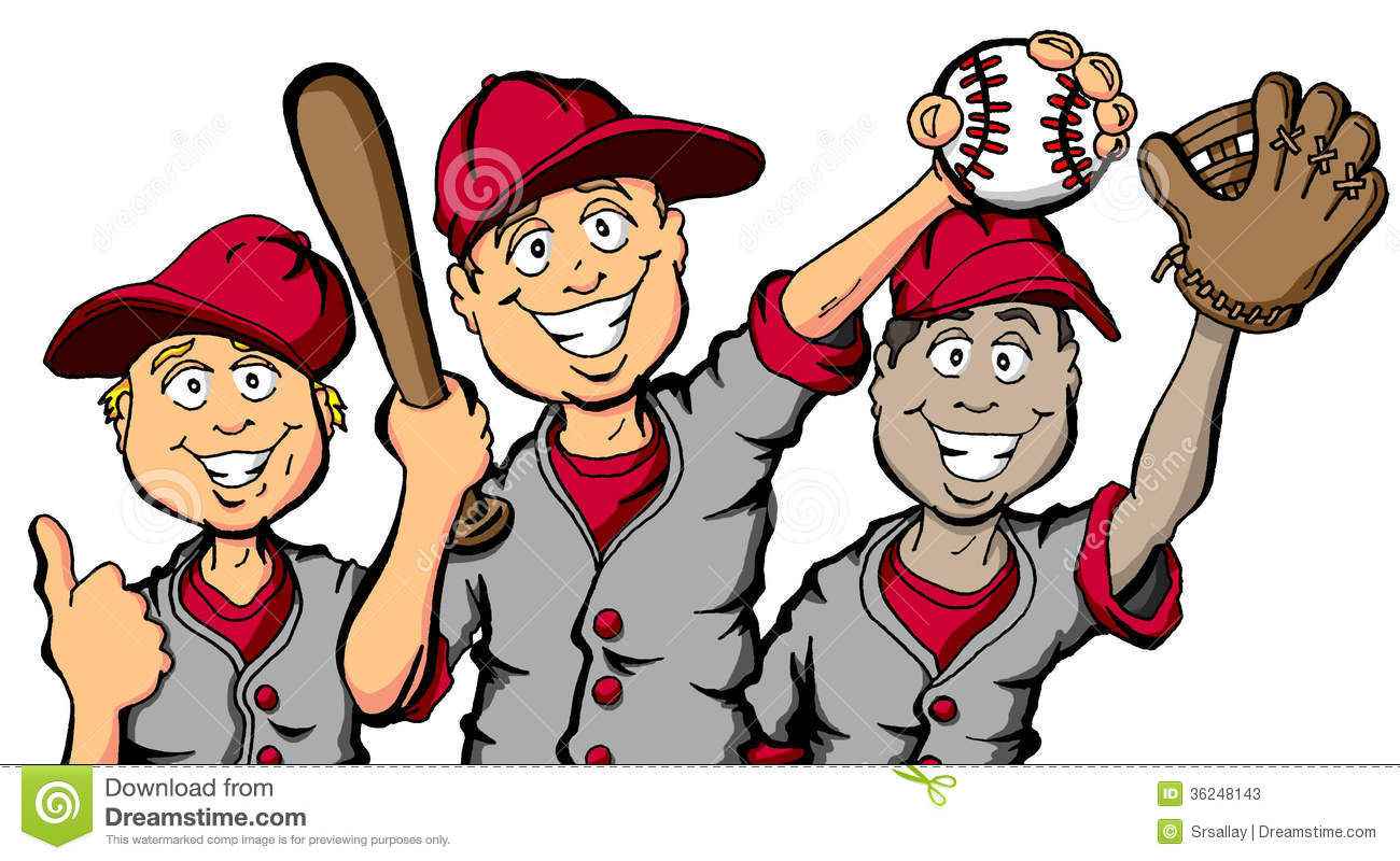 Baseball clipart baseball team Kid baseball playing game Baseball