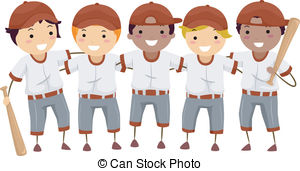 Baseball clipart baseball team A Clipart Featuring Baseball Illustration
