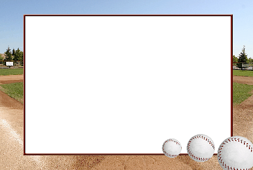 Baseball clipart boarder Baseball Clip Borders Photo 4x6
