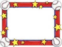 Baseball clipart boarder Card Albums Borders 3 Explosion