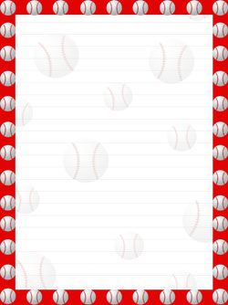 Baseball clipart boarder Bat Printable the in Printable