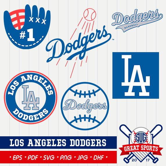 Baseball clipart dodgers #7