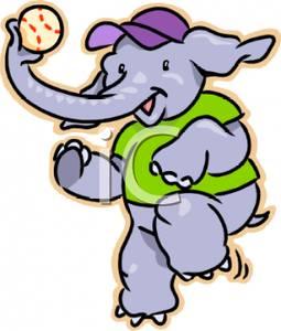 Baseball clipart elephant Picture Baseball An Elephant Elephant