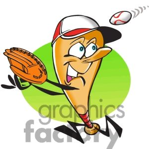 Baseball clipart food #12