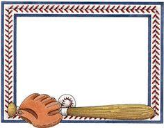 Baseball clipart frame Web Escolares: Scheibner Molduras Borders