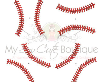 Baseball clipart lace #4