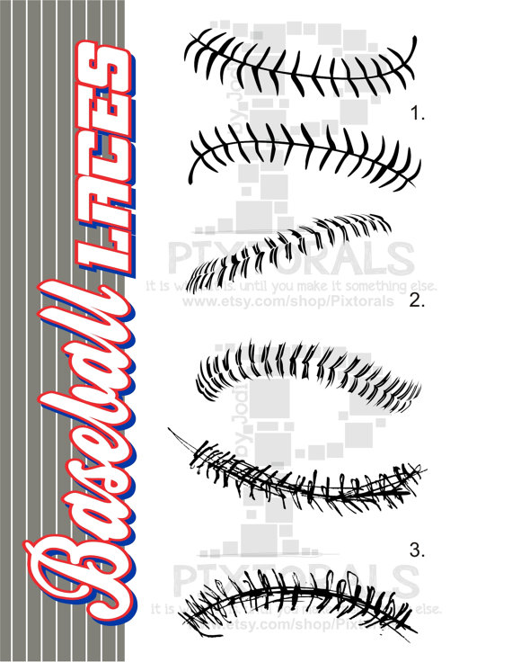 Baseball clipart lace #10