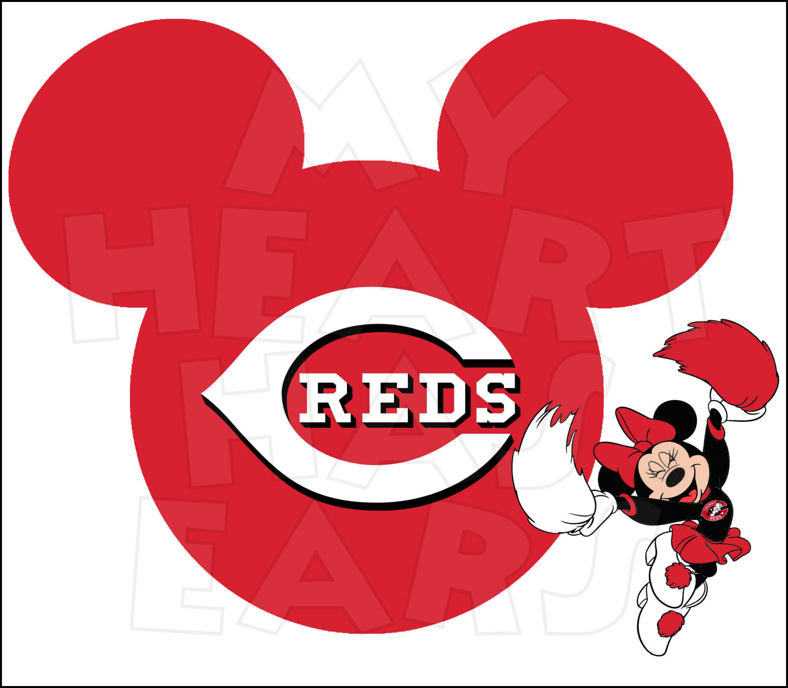 Baseball clipart minnie mouse #5