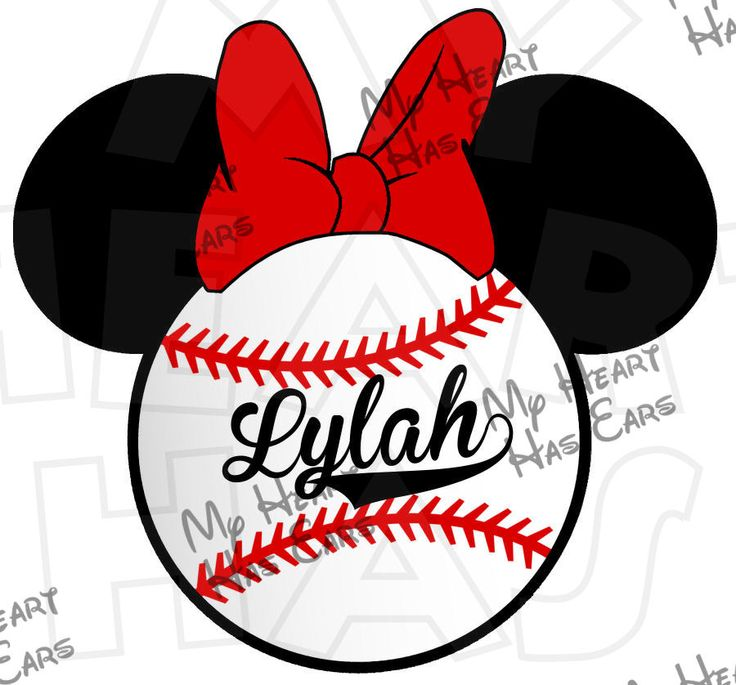 Baseball clipart minnie mouse #14