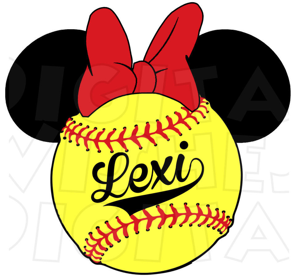 Baseball clipart minnie mouse #13