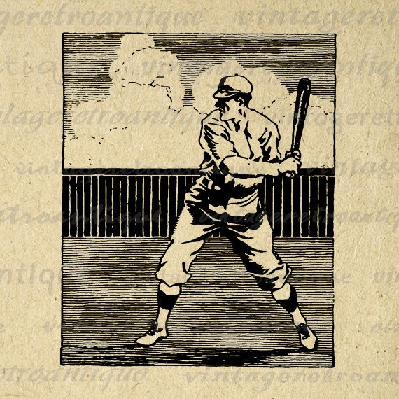 Baseball clipart old fashioned Jpg Player 3684 Vintage on
