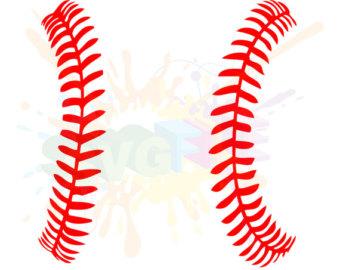 Baseball clipart seams #12