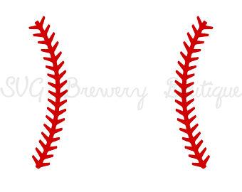 Baseball clipart seams #2