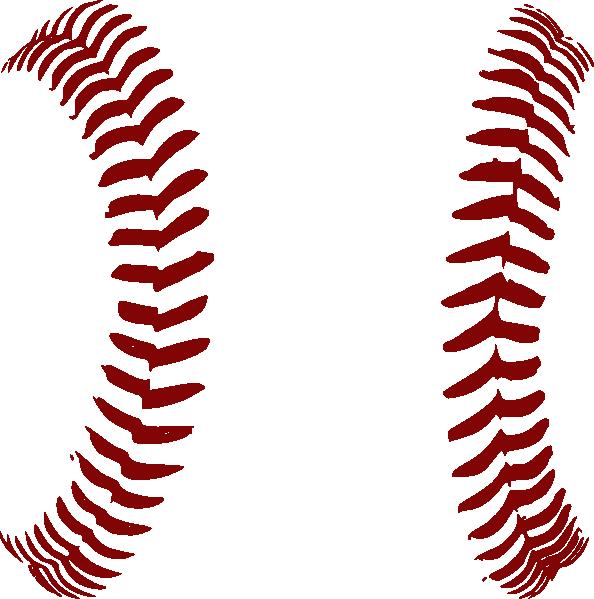 Baseball clipart seams #6