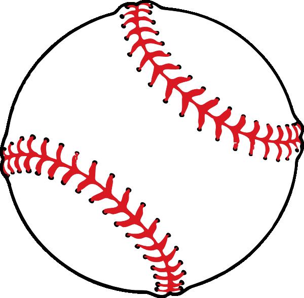Baseball clipart seams #3