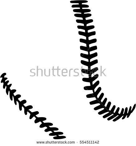 Baseball clipart seams #11