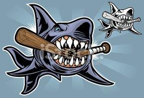 Baseball clipart shark Me stock Baseball Bite Shark