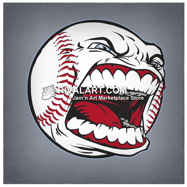 Baseball clipart shark With Face Face Mean a
