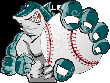 Baseball clipart shark Baseball holding man Shark man