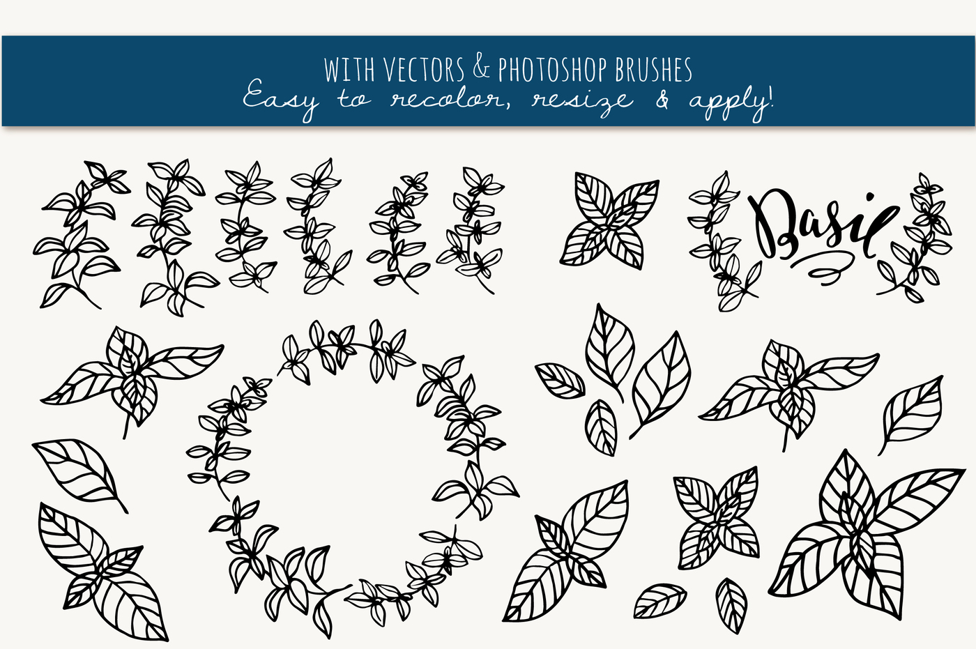 Basil clipart black and white ClipArt Pen com & Summer