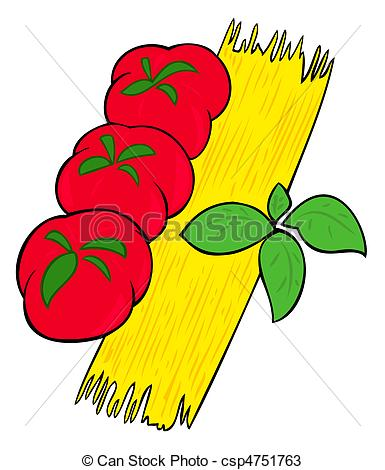 Basil clipart cartoon Of  tomatoes tomatoes Spaghetti