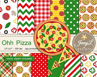 Basil clipart italian Pla Scrapbooking birthday papers Pepperoni