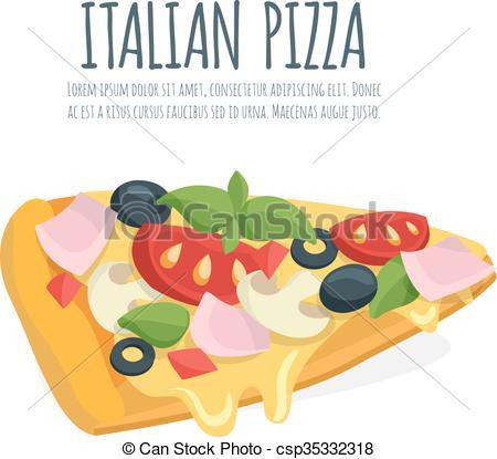 Basil clipart italian With Italian vector basil pizza