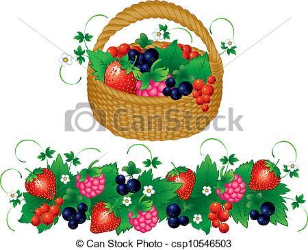 Basket clipart berry Berries Basket csp10546503 Vector juisy