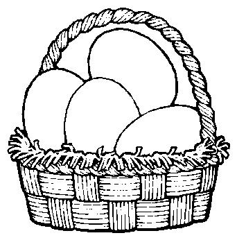 Basket clipart black and white Free Fruits black art clip