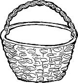 Basket clipart black and white Clip wicker%20clipart Free Panda Clipart