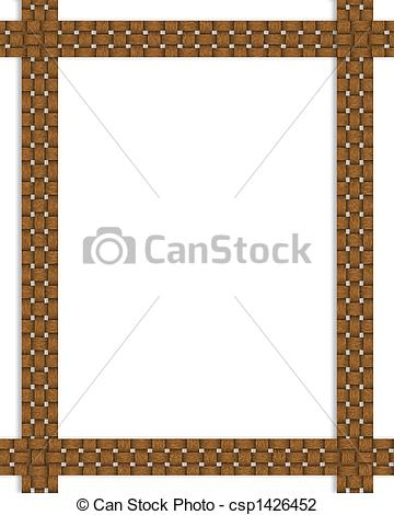 Basket clipart border Art border Clip frame csp1426452