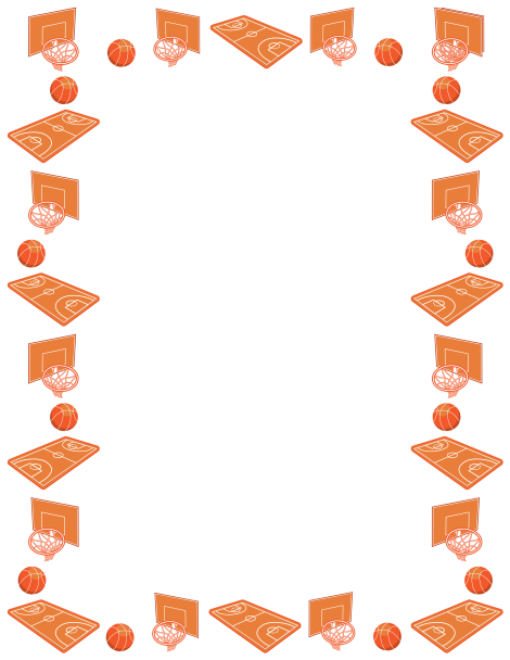 Basket clipart border Borders more Page courts featuring