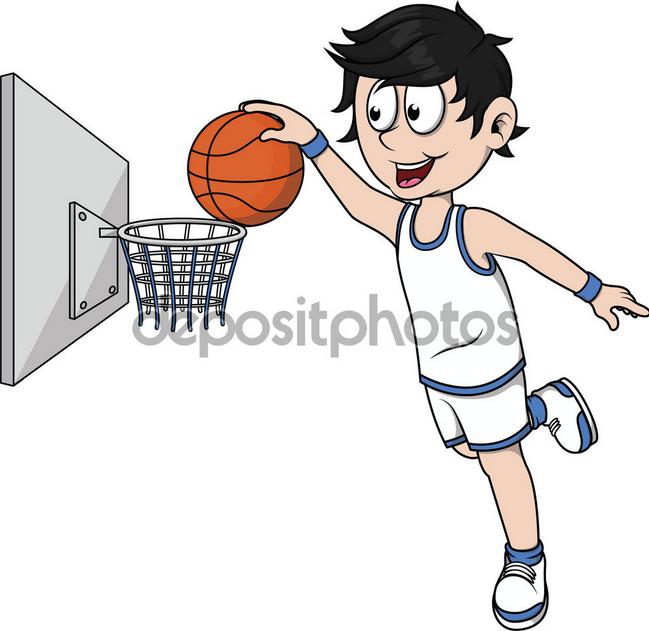 Basket clipart boys basketball And with ball vector basket