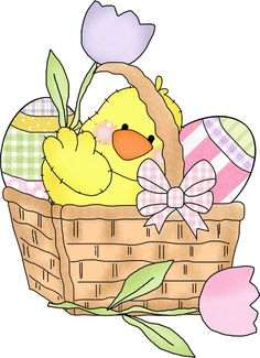 Basket clipart easter candy Clip EASTER mycutegraphics  Easter