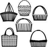 Basket clipart empty bag Clip GoGraph Art Basket Wooden