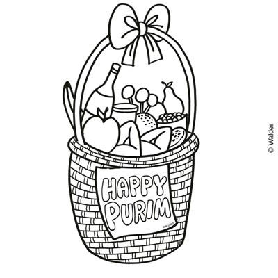 Basket clipart mishloach manot On Purim Shalach Happy Manos