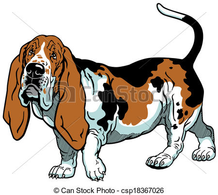 Basset Hound clipart Clipart clipart Basset Hound clipart