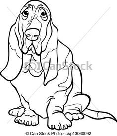 Basset Hound clipart animated Black for Basset funny book
