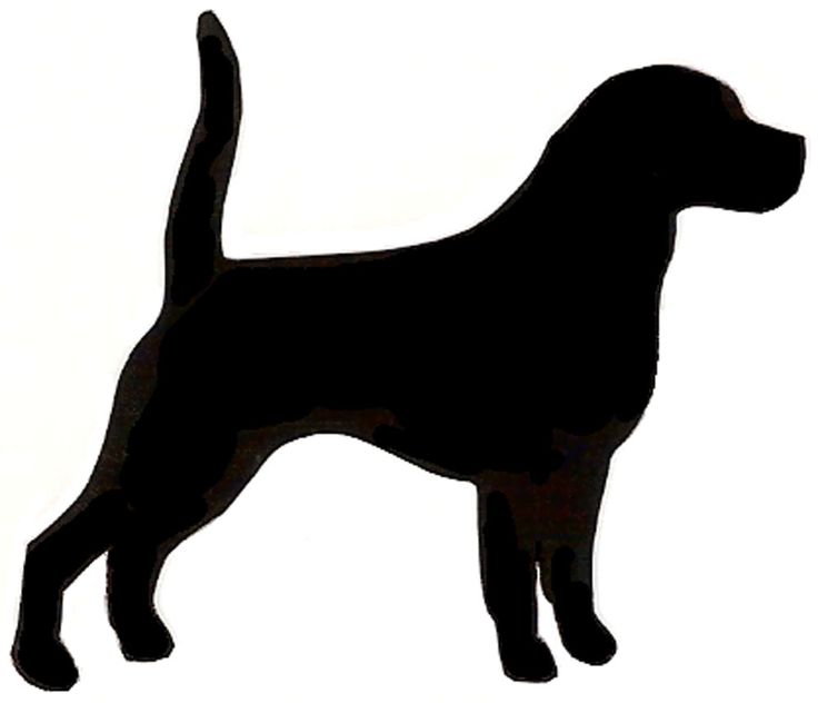 Beagle clipart silhouette Happy Best Search cute on