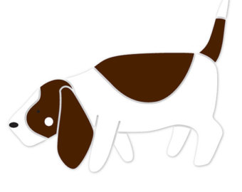 Basset Hound clipart dog shadow Hound decor Baby Basset Etsy