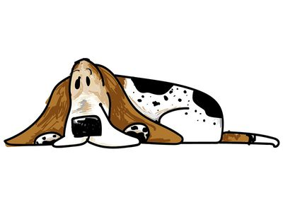 Basset Hound clipart dog shadow Hound Moose Basset A Dog