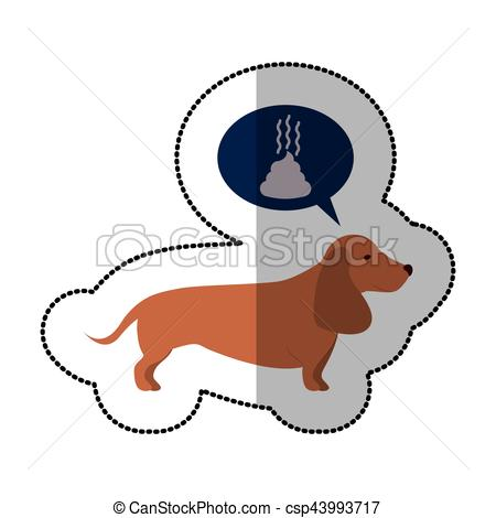 Basset Hound clipart dog shadow Of colorful dog Art image