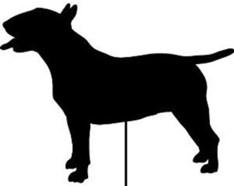 Basset Hound clipart dog shadow Metal / / Hanging Stake