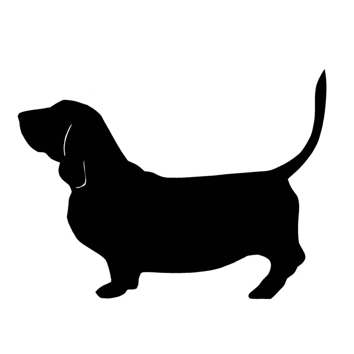 Basset Hound clipart dog shadow  Tattoo Pinterest Tattoo Hound