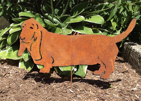 Basset Hound clipart dog shadow / Cut Garden Shadow Basset