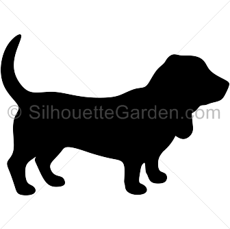 Beagle clipart silhouette Hound Basset Silhouette Silhouettes Dog