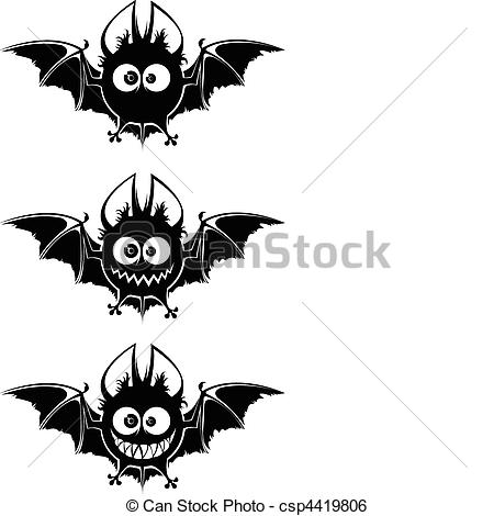 Bat clipart big black Vector vampires bats Black Black