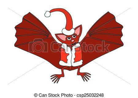 Bat clipart christmas In bat red bat csp25032248