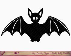 Bat clipart christmas Bird download Birds digital clip