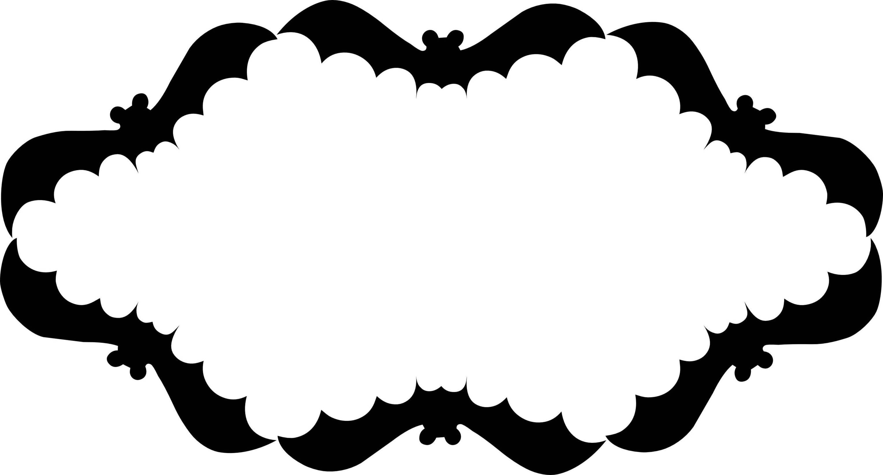 Bat clipart frame Frame Zone Cliparts Halloween Frame